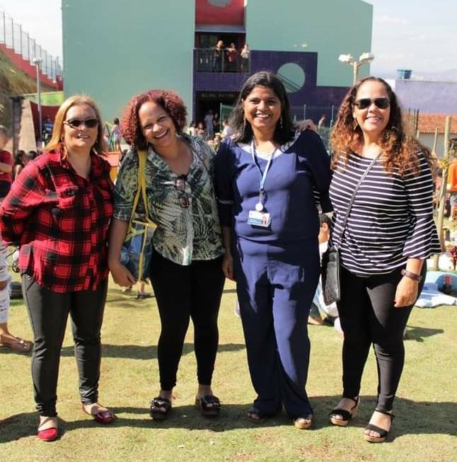 Foto por Carol Oliveira Na foto : Siomara Fonseca, Lucirley Amorim, Juliana Oliveira e Luciana Roberta (Equipe Pedagógica)